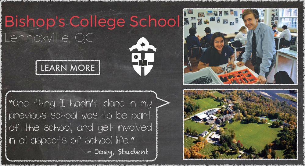 Bishop's College School Boarding School Testimonial