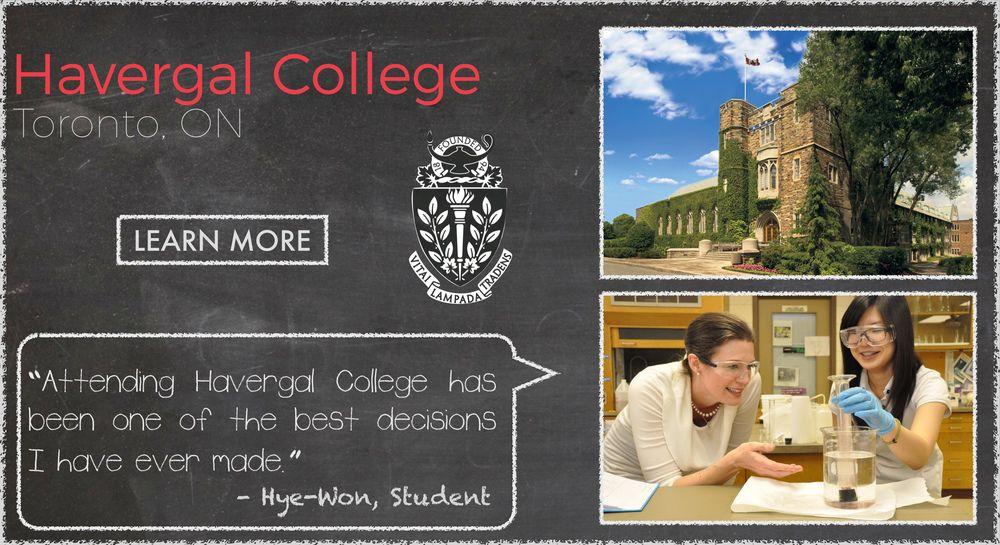 Havergal College Boarding School Testimonial