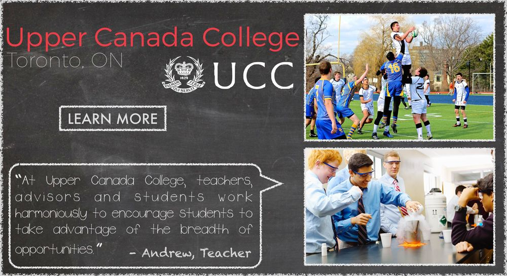 Upper Canada College Boarding School Testimonial