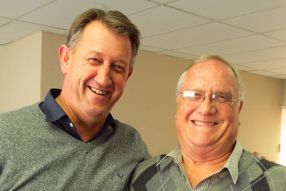 Thermopac General Manager, Craig Matthews, with Thermopac Regional Sales Manager (Gauteng), Gerhard Hattingh.