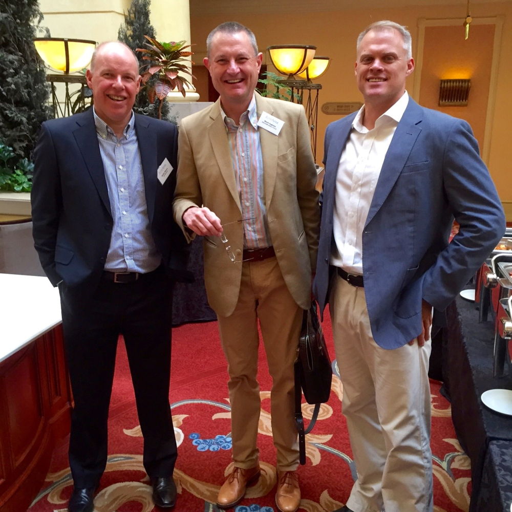 Pictured from left: Astrapak CEO Robin Moore, Ingham Analytics Consultant Mark Ingham, Astrapak Group MD and CFO Manley Diedloff.