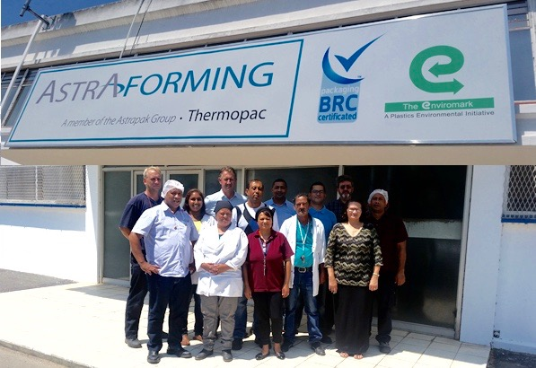 Astrapak Limited's Thermopac plant in Cape Town completed its annual BRC (British Retail Consortium) audit in January and again achieved their BRC status with AA certification.