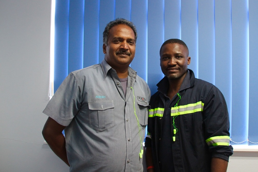 Plastop KZN Plant Manager Anesh Mohanlall and Technical Manager Zamani Chonco used their innovative prowess to apply an innovative injection method that makes cycle-time shorter.