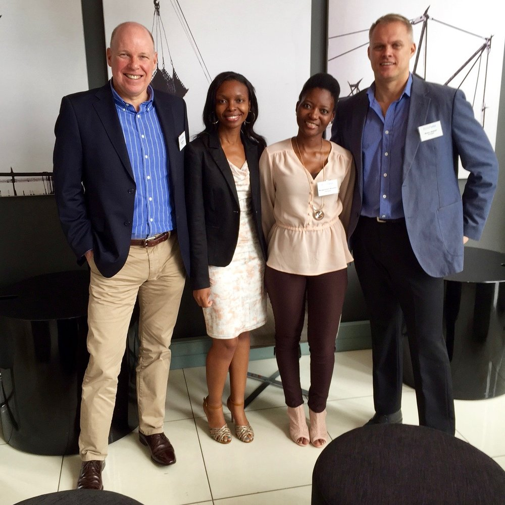 From left: Astrapak's CEO Robin Moore; Company Secretary Salome Ratlhagane; HR Director Hangwelani Dlamini; Managing Director and CFO Manley Diedloff.