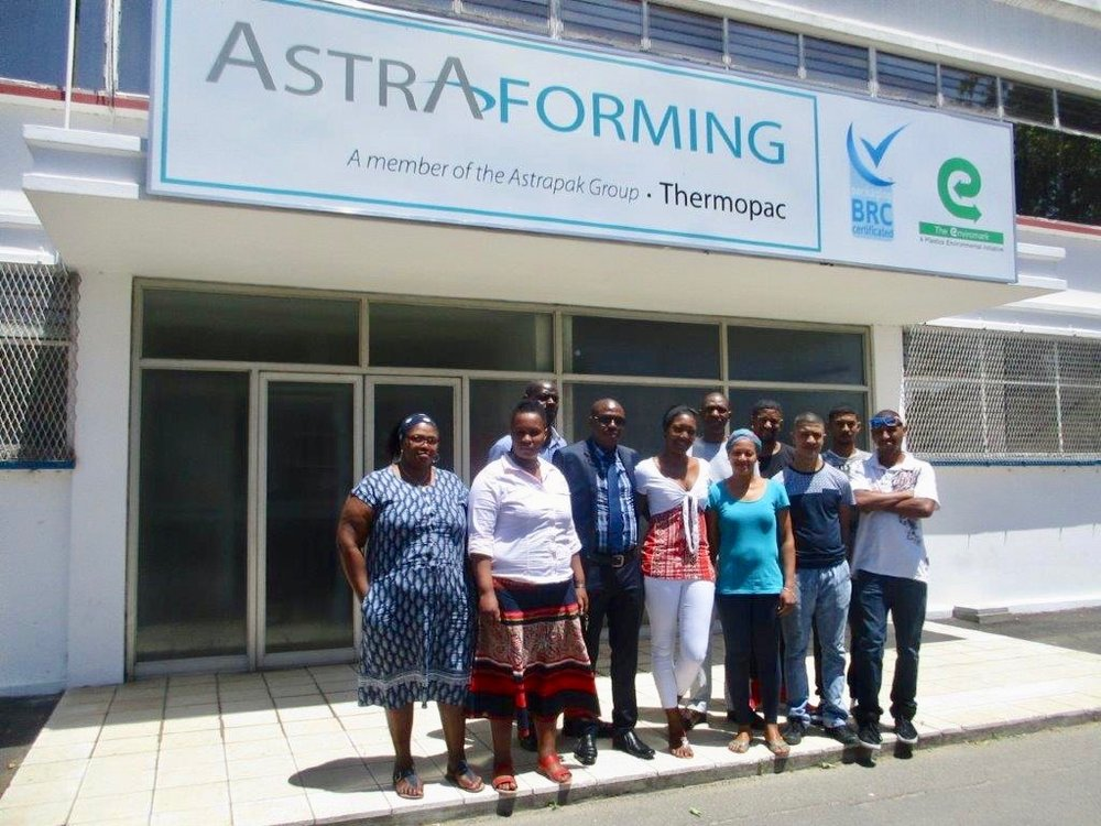 Thermopac, from left (front):Nolitha Pama;Nomaphelo Dingane;Maxwell Mcosana;Melody Adams;Lynette Saunders;Algenon Agulhas;Deon Storm;Mogammad Storm;Merlin Bowers. (Back):Wilfred Phiri (Facilitator);Lungisa Sumdaka.