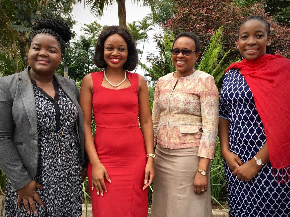 """From Left: Khethiwe Bhengu, Sinenhlanhla """"Sne"""" Mhlungu, Futhi Buthelezi, Nomvelo Ncube make up RPC Astrapak's vibrant new HR team."""