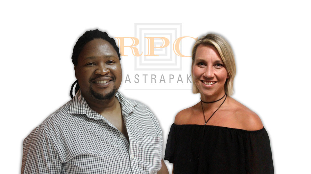 Zakhele Myeza and Candice Mitchell are taking part in RPC's Future Leaders Programme.