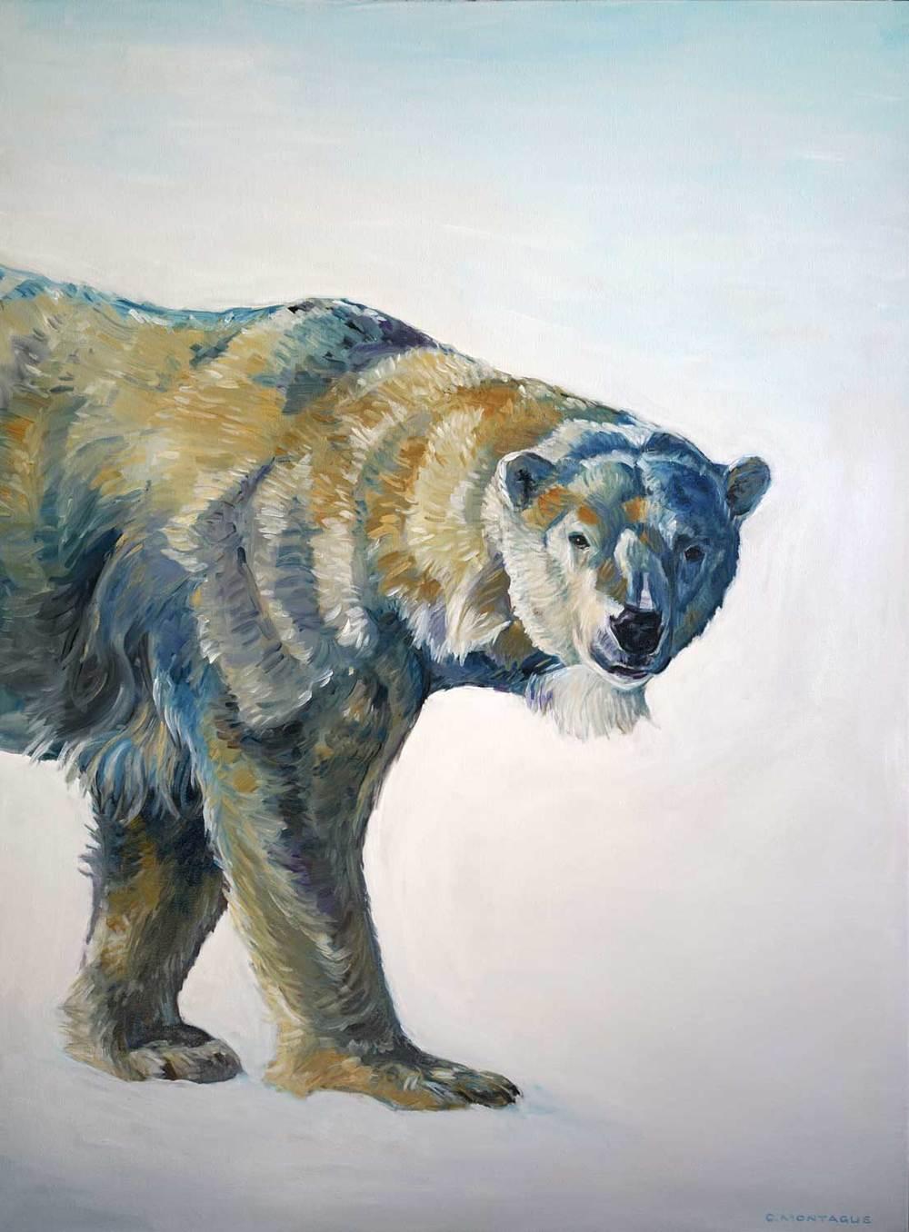 Polar Bear Art - BIG BEAR WALKING-Williams Mill Gallery until Dec. 24