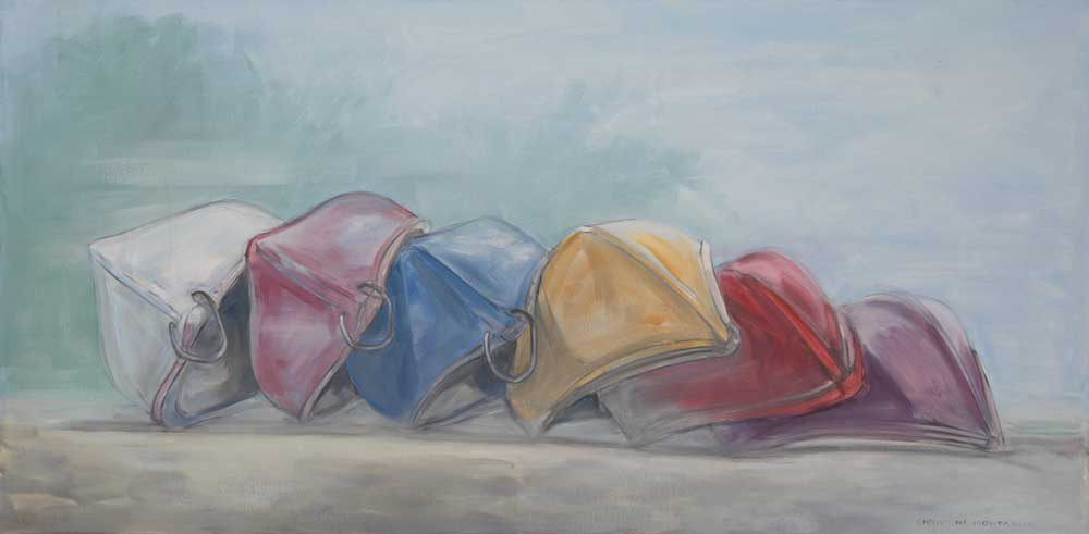 Canoes in the Mist -Williams Mill Gallery until Dec. 24