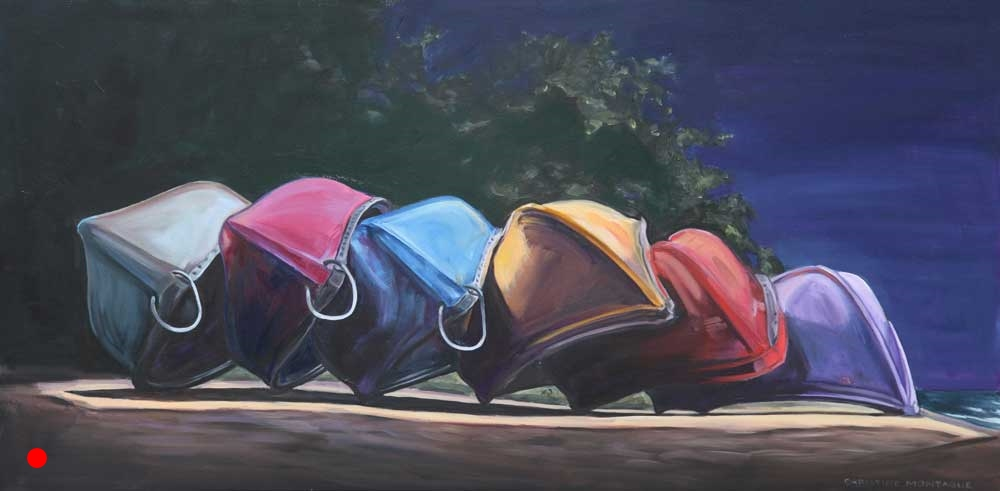 Night Canoes SOLD