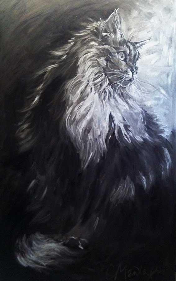 Into the Silver Light. Big Cat Portrait Series