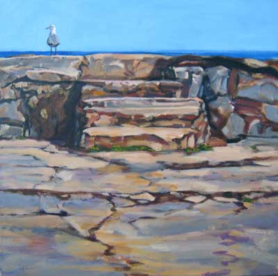 """Seagull at Gairloch Steps, Oakville"" copy right Christine Montague"