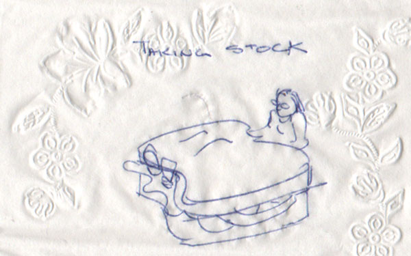 napkin art Copyright Christine Montague 2009