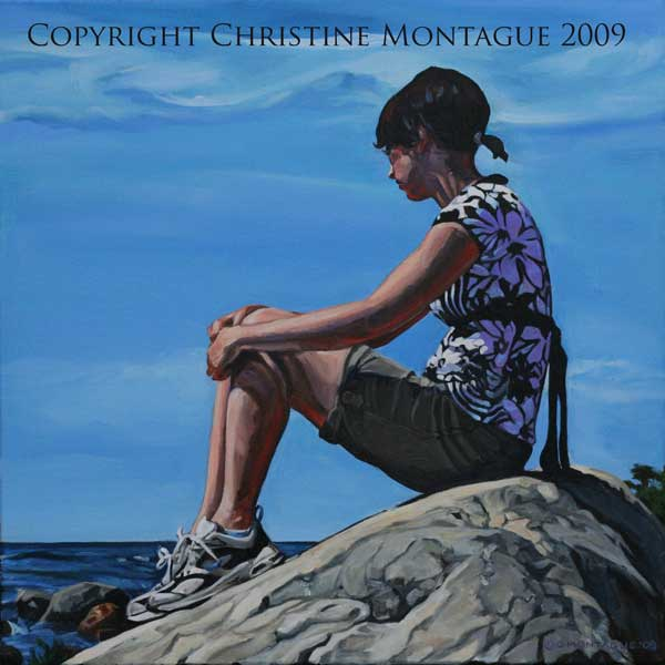 Original oil painting copyright Christine Montague 2009