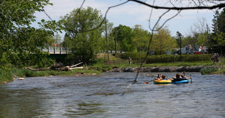 Tubing & OPAS on the Credit River. Photo copyright  plein air painter Christine Montague 2009