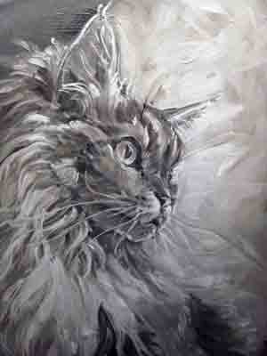 Detail of Big Cat Painting Copyright Christine Montague