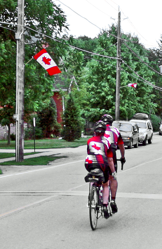 Christine-Montague-patriotic-Canada-Day-bicyclists-2