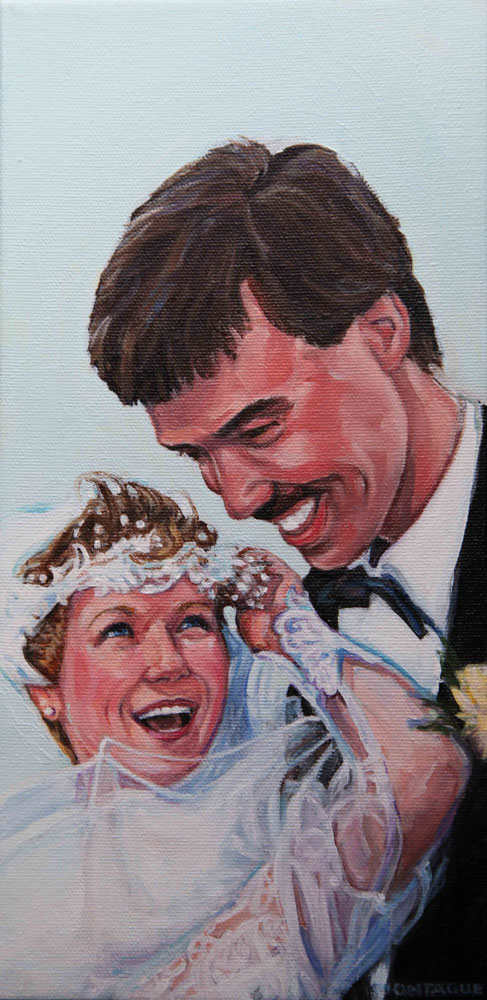 weddin portrait oil painting copyright Christine Montague