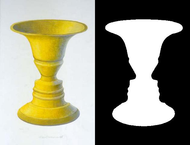Rubin's vase. illustration