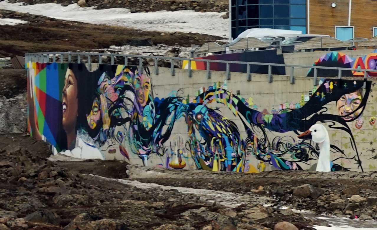 Detail. Mural. Qikiqtani General Hospital. Iqaluit. Photo: Christine Montague