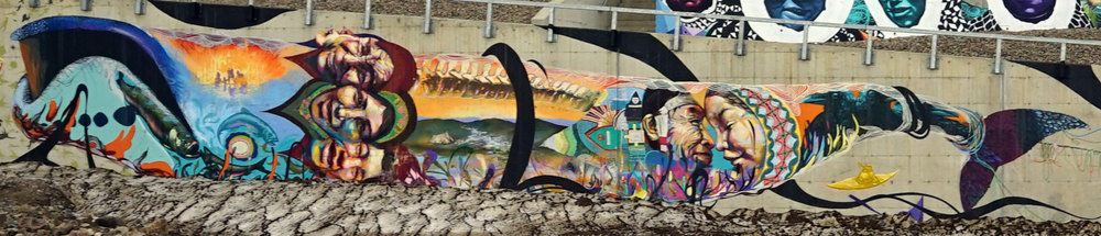 Whale Detail. Mural Qikiqtani General Hospital . Photo: Christine Montague