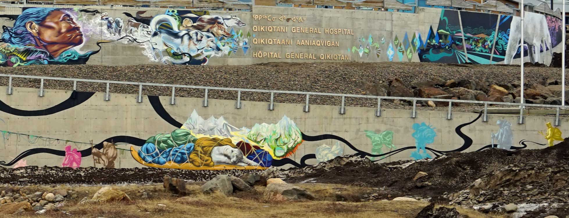 Kamatik (sled). Mural. Qikiqtani General Hospital. Photo: Christine Montague