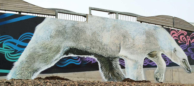 Polar Bear. Mural. Qikiqtani general Hospital. Photo: Christine Montague