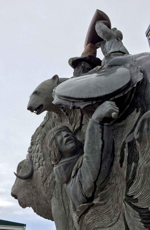 Public sculpture. Iqaluit, Nunavut. Photo: Christine Montague