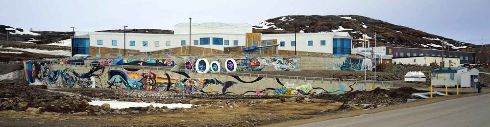 Mural at Qikiqtani General Hospital. Iqaluit. Photo: ©Christine Montague
