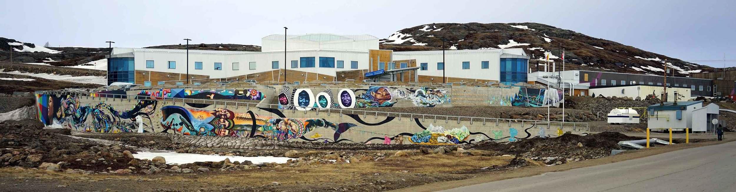 Mural at Qikiqtani General Hospital. Iqaluit. Photo: Christine Montague