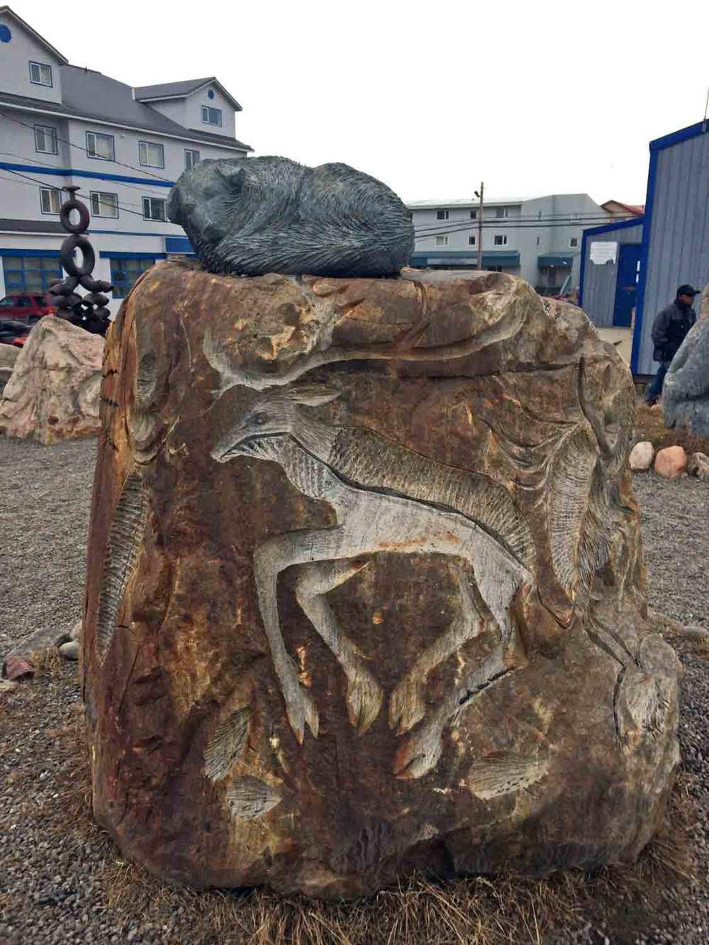 ©Christine-Montague-Stone-park-iqaluit-caribou