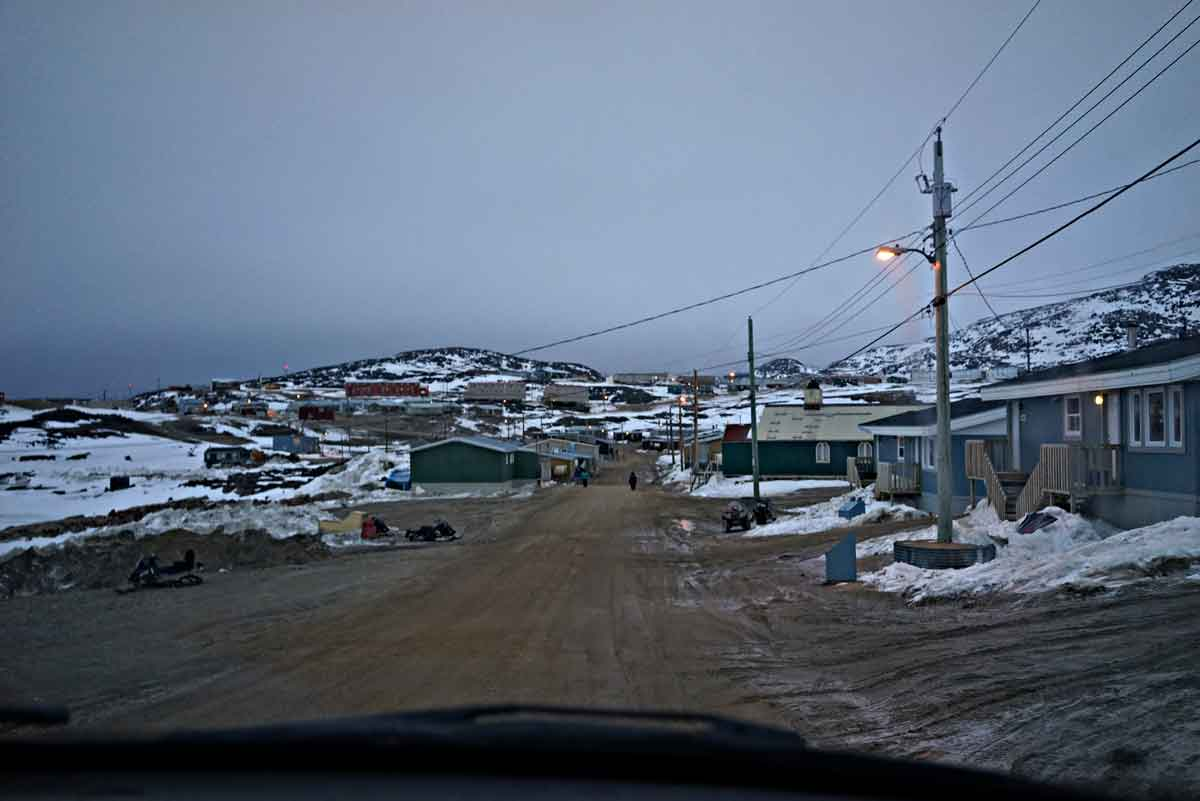 My first view of Cape Dorset. Photo: Christine Montague 2014