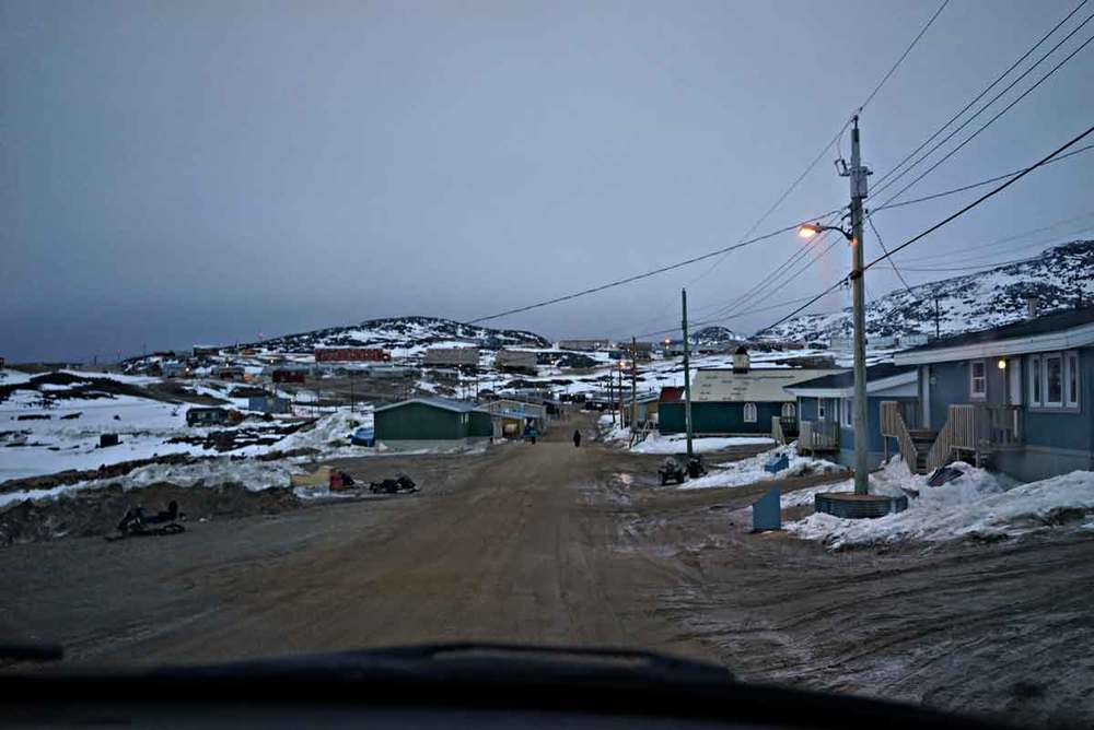 My first view of Cape Dorset. Photo: ©Christine Montague