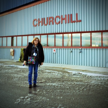Christine Montague in Churchill, Manitoba, Canada - polar bear capital of the world!