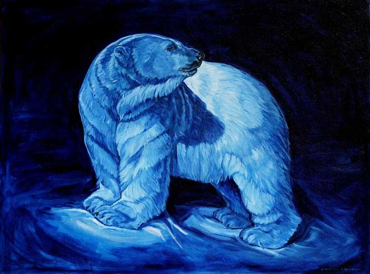 "The Blue Prince. Original oil painting. 30"" x 40"" © Christine Montague"
