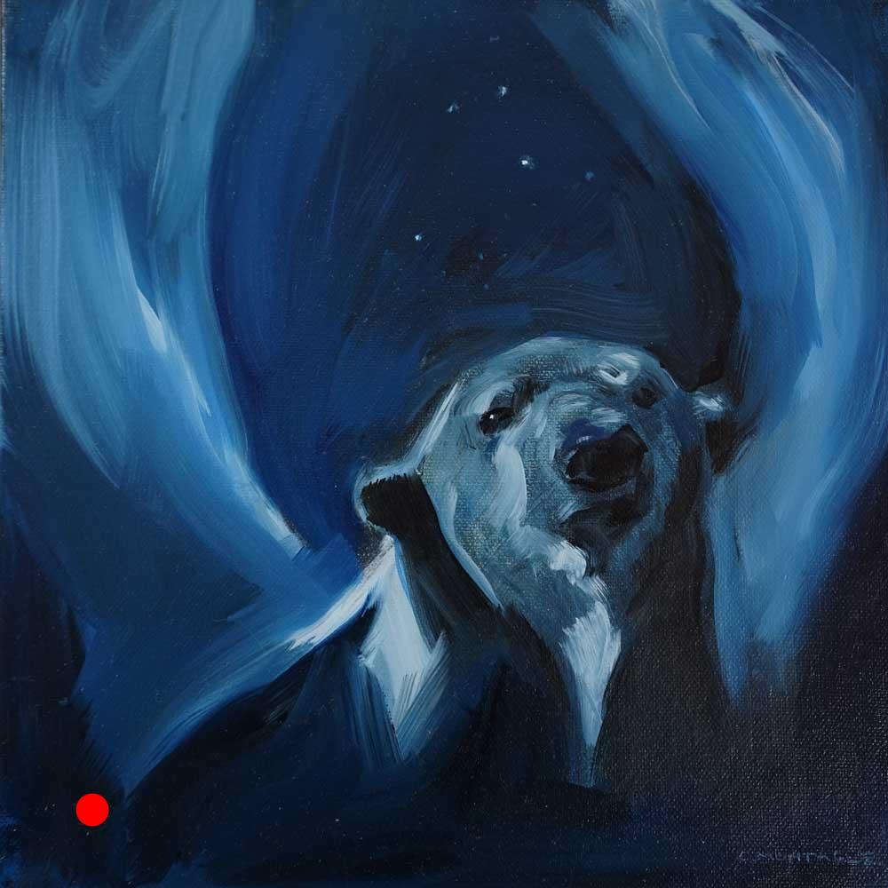 SOLD. Polar Bear Angel (Winged Bear)