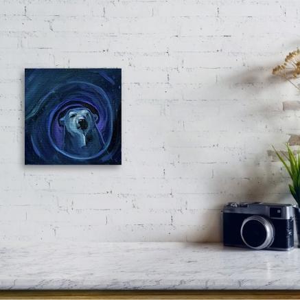 Infinity Bear print in situ