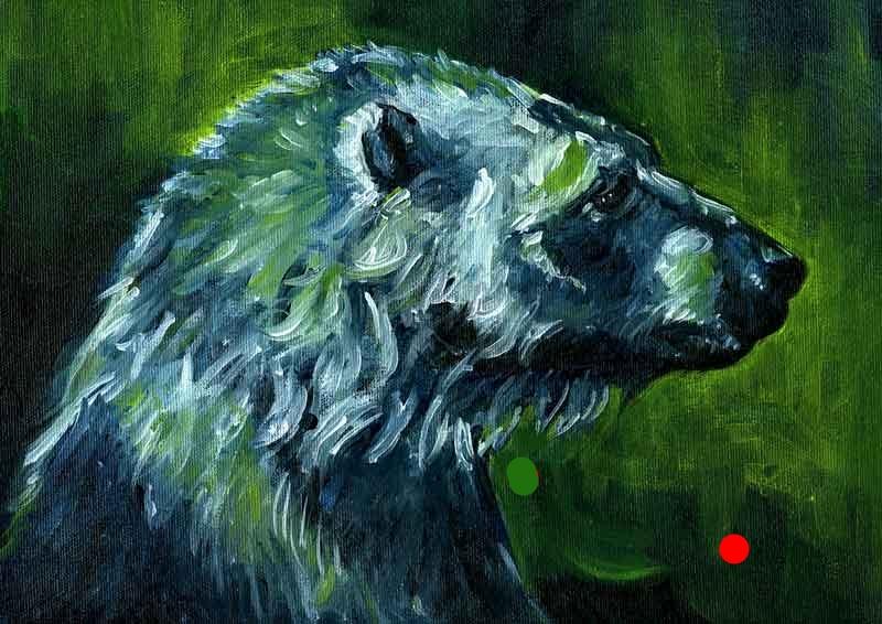 Polar Bear Oil Painting: Wise Bear
