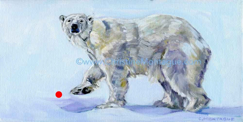 "SOLD. Polar Bear Painting ""Anana"""