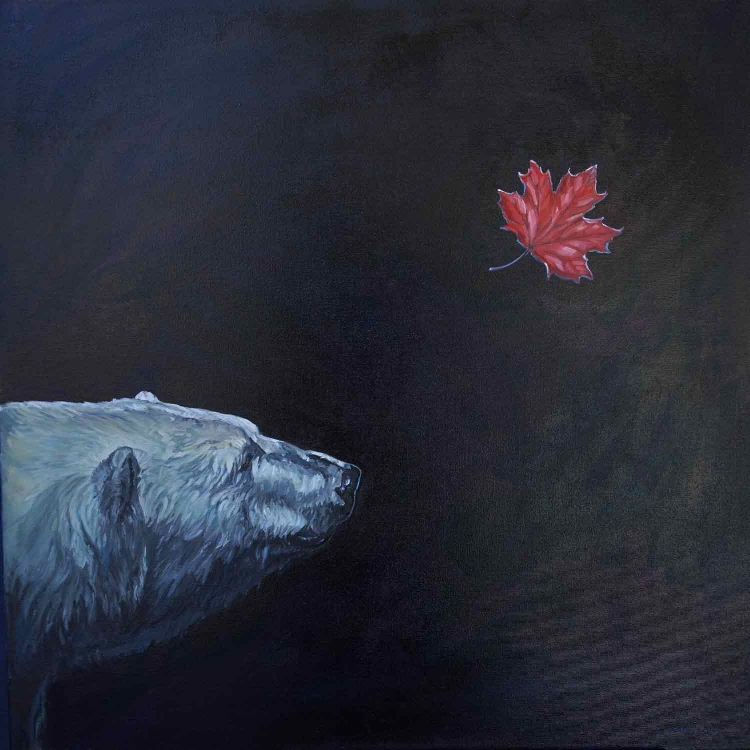 "The Fall . ©Christine Montague 30"" x 30"" oil painting.  ChristineMontague.com"