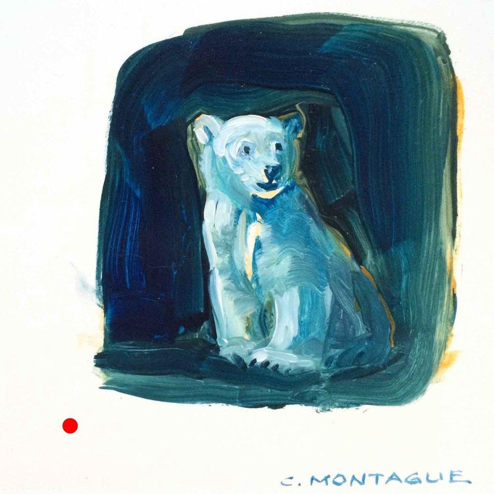 Sold. Polar Bear Cub Painting 4