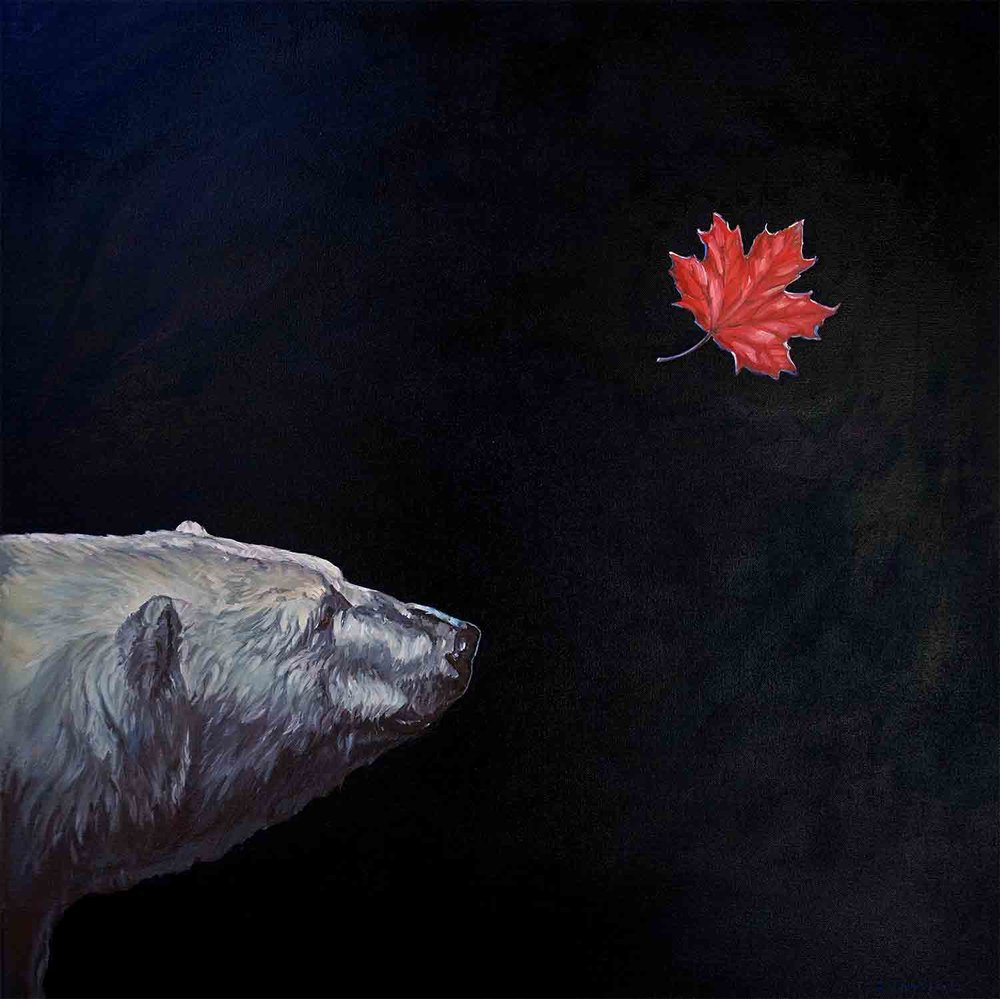 The Fall. An original oil painting ©Christine Montague 2018