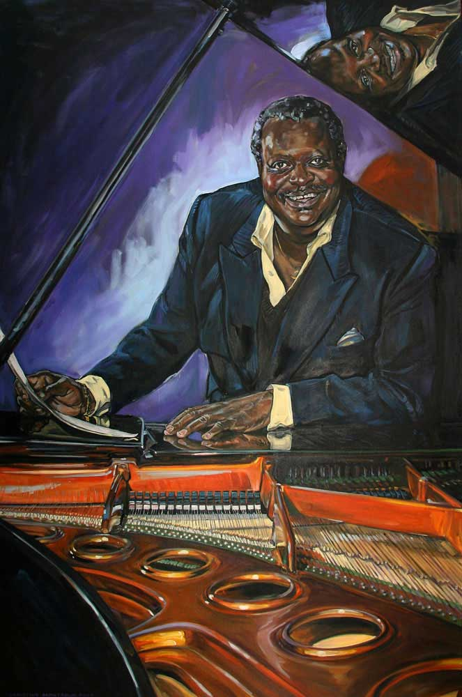 Dr. Oscar Peterson. 6 ft. x 4 ft. Living Arts Centre. Mississauga, ON. Canada