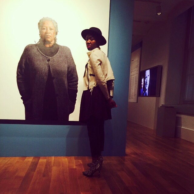 At the National Portrait Museu alongside an oil painting of Toni Morrison. Shot by my lovely 6-year-old.