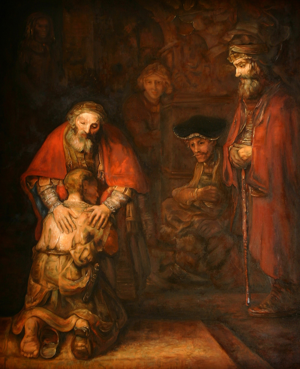 The Prodigal Son by Rembrandt / Reproduction in oils: Nic Iacovetti