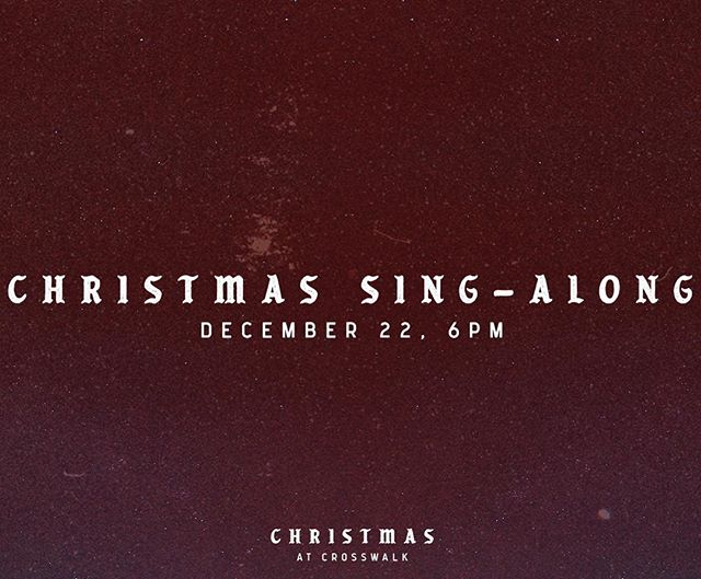🎺Hear Ye, Hear Ye🎺 🎼Christmas Sing-Along🎼 Come out for some holiday fun at at Crosswalk on Dec 22 @ 6PM. We will have hot chocolate and donut holes and there will be a professional photographer there to take photos in front of the selfie wall. There will be a mixture of Christmas music for everyone to enjoy! Make sure to bring your holiday spirit and smiles 🎄