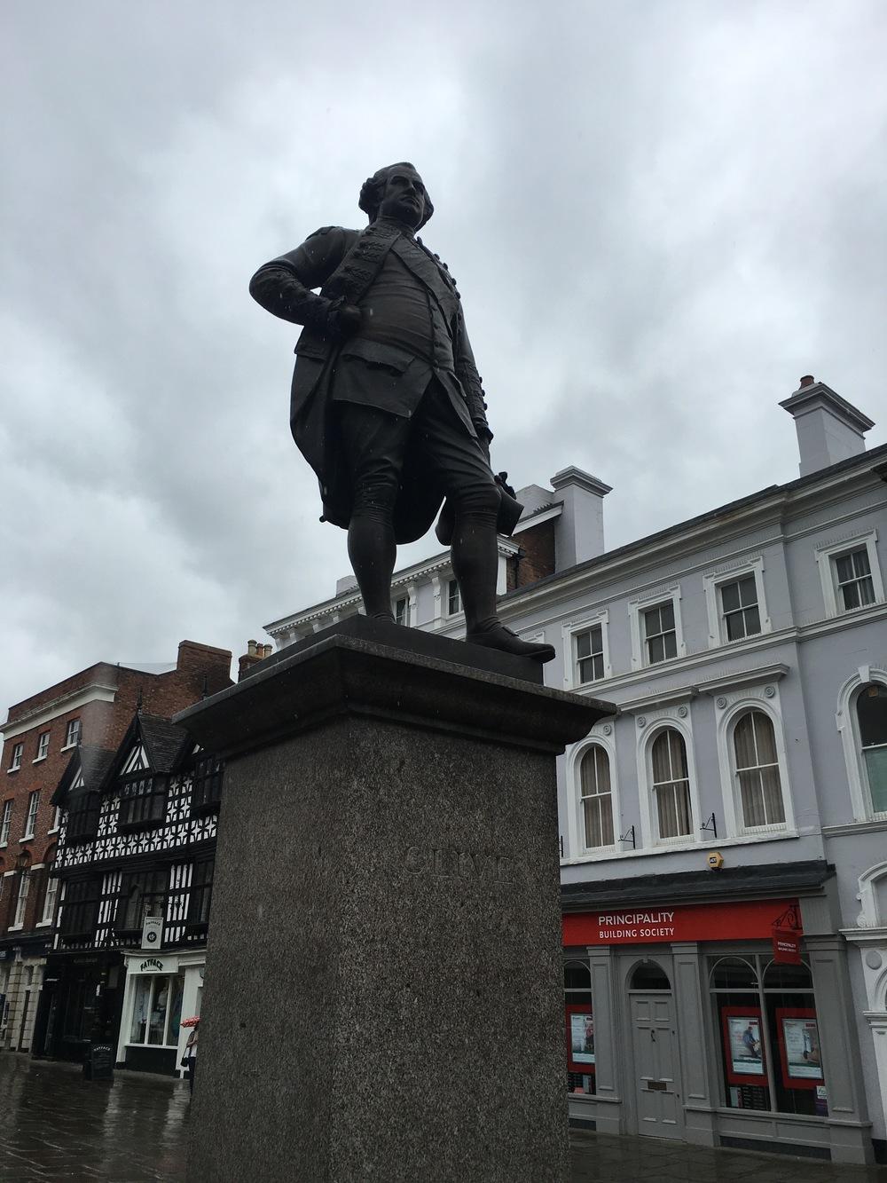 Clive presiding over the market square.
