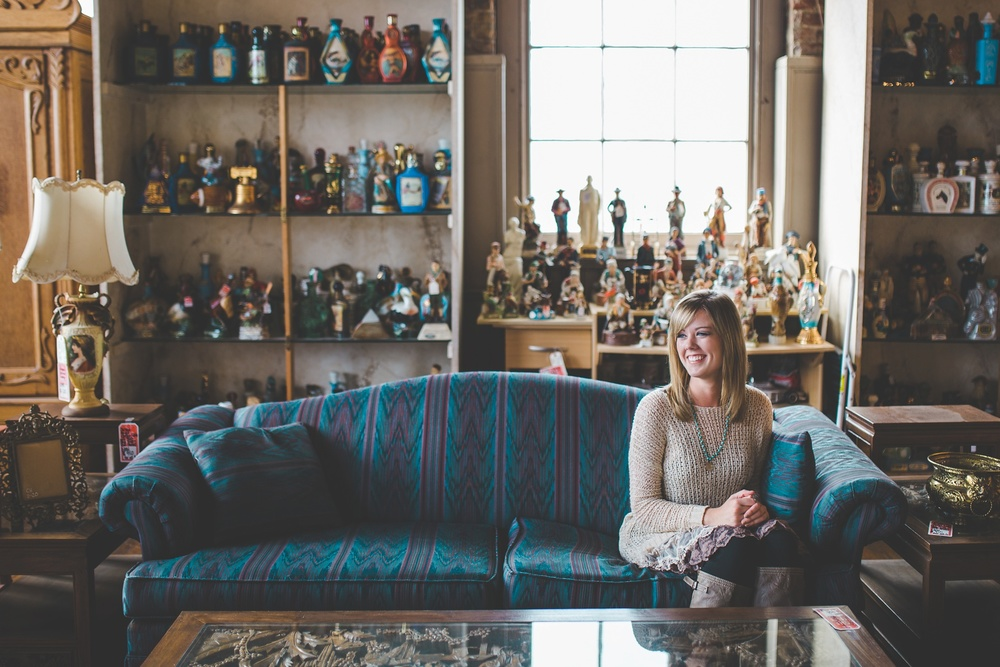 Joe Ley Antique Store Senior Photos Chandler Rose Photography