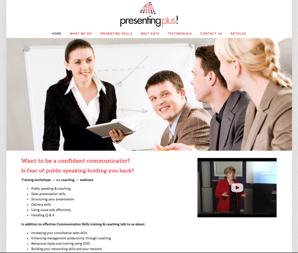 PresentingPlus! Website