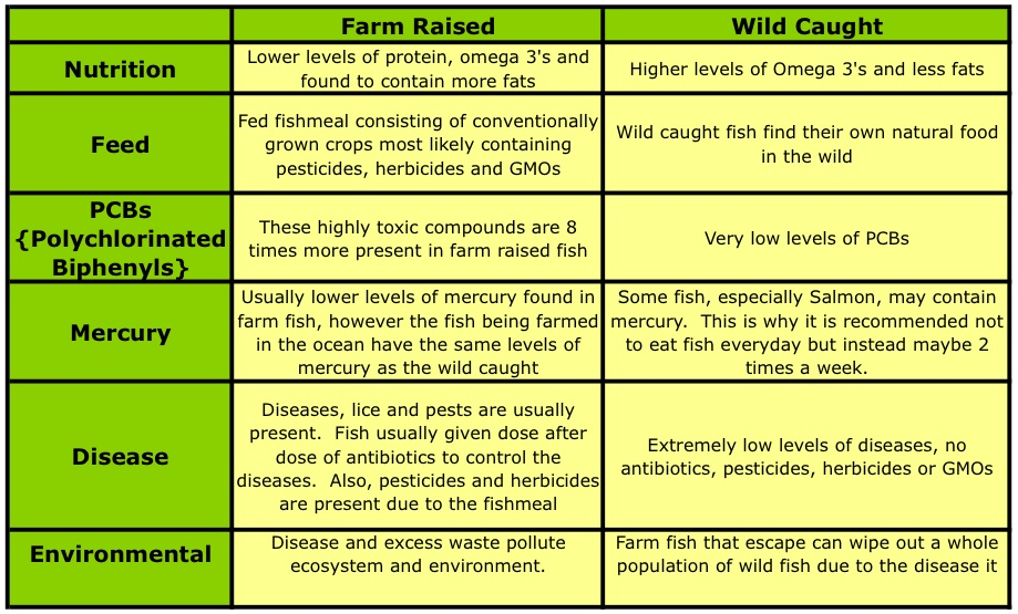 wild caught vs farm raised fish pros and cons